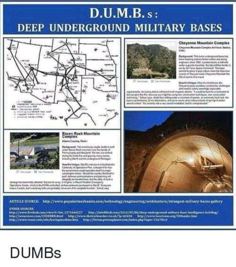 L'esercito e la space force rivelano fitta rete di tunnel sotterranei