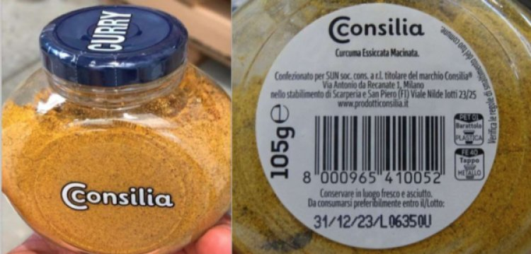 Etichetta errata: non è curcuma ma in realtà è curry. Ritirato un lotto di curry a marchio Consilia