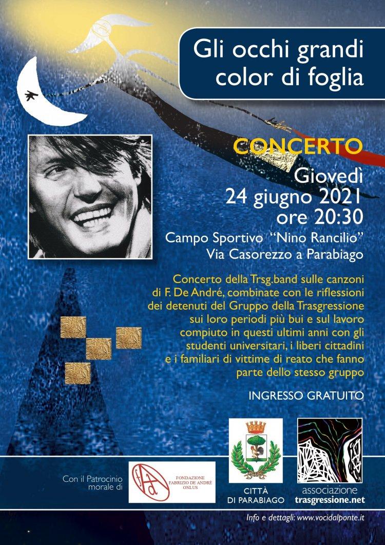 Fabrizio De André cantato dai detenuti  a Parabiago (MI)