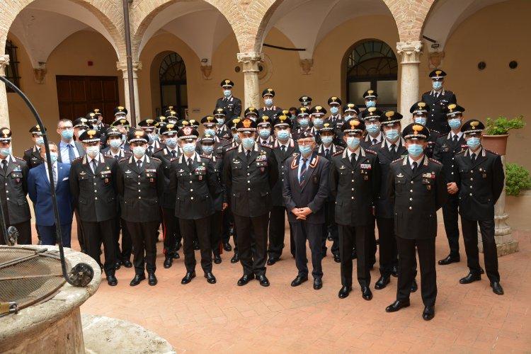 Umbria, Teo Luzi, comandante generale in visita