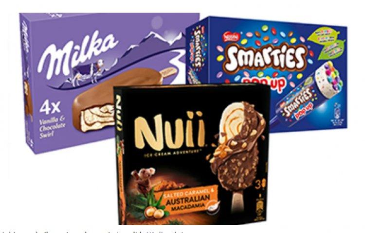 Froneri richiama singoli lotti di gelati Nuii, Milka e Smarties per ossido di etilene