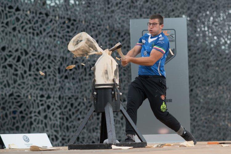 Timbersports, lo sport dei taglialegna: Alessandro Ciaponi,  valtellinese